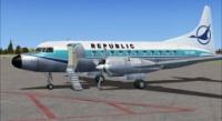 Screenshot of Republic Convair 580 on the ground.