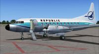 Screenshot of Republic Convair 580 on the ground (left side).