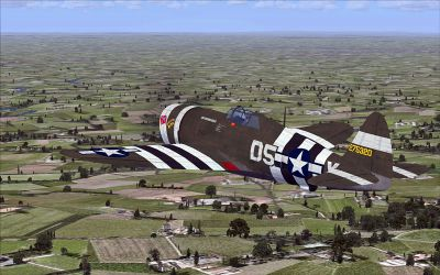 Screenshot of Republic P-47D Thunderbolt in flight.