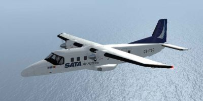 Screenshot of SATA Dornier Do228 in flight.