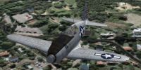 Screenshot of Mitsubishi J2M3 in flight.