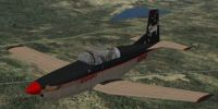 Screenshot of Pilatus PC-7 in flight.