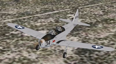 Screenshot of Fairchild PT-19B in flight.