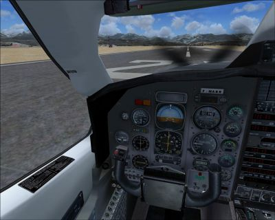Screenshot of Socata TBM 700 cockpit.