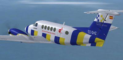 Screenshot of SUC Beechcraft 200 in flight.