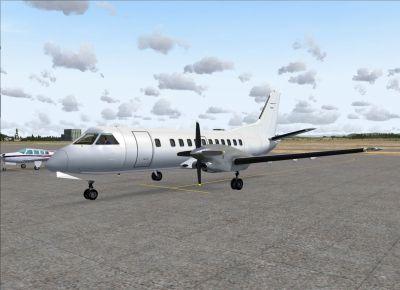 Screenshot of Saab 340B on the ground.
