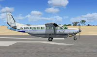 Screenshot of Sefofane Air Charters Cessna 208B on runway.