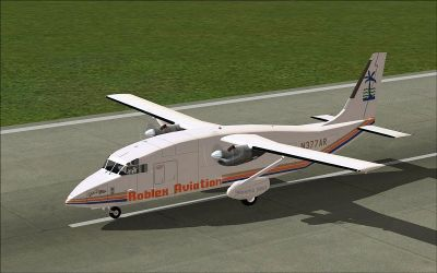 Screenshot of Roblex SD3-60 on runway.