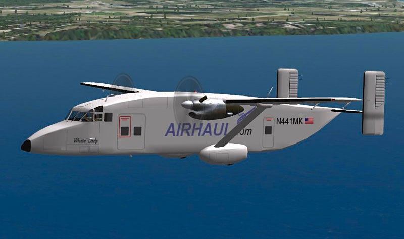 Shorts Sherpa Twin Turboprop STOL Transport for FSX