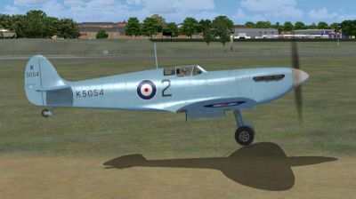 Screenshot of Supermarine Spitfire MK IA Prototype K5054 2 taking off.