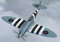 Screenshot of Supermarine Spitfire PRXIX PM631 in flight.