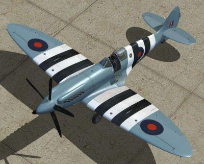 Screenshot of Supermarine Spitfire PRXIX PM631 on the ground.