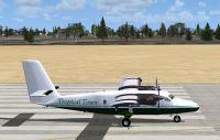 Screenshot of Tropical Tours Twin Otter on runway.