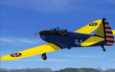 Screenshot of US Army Fairchild PT-19 in flight.