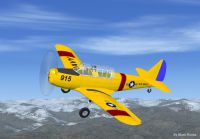 Screenshot of US Navy Fairchild PT-26 in flight.