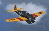 Screenshot of US Navy Grumman F6F Hellcat UA15 in flight.