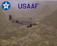 Screenshot of USAAF Douglas DC-3 VIP Transport in flight.