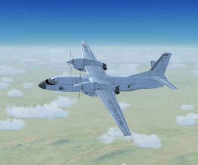 Screenshot of Ukrainian UN AN-32B in flight.