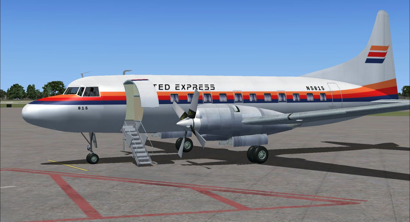 united express convair 580 for fsx