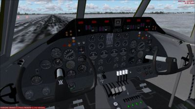 Screenshot of Vickers Viscount cockpit.