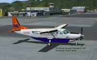 Screenshot of (new) Vieques Air Link Cessna 208 Caravan on the ground.