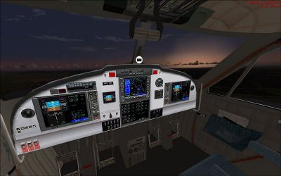 Screenshot of Viking DHC6-400 Twin Otter cockpit.