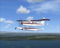 Screenshot of Turbo Beaver C-GDTB in flight.