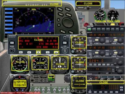 Screenshot of Turbo Beaver C-GDTB panels/gauges.
