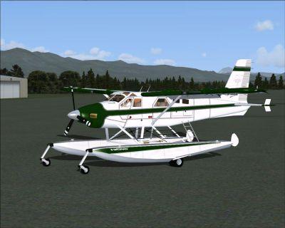 Screenshot of Viking Emerald DeHavilland Turbo Beaver on the ground.