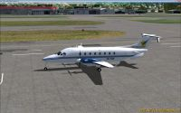 Screenshot of Vincent Aviation Beechcraft B1900D on the ground.