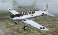Screenshot of Vultee BT-13 in flight.