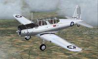 Screenshot of Vultee BT-13 in flight.