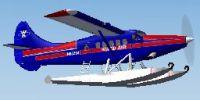 Screenshot of Ward Air DeHavilland DHC3 Turbo Otter in the air.