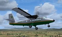 Screenshot of Yeti Airlines Twin Otter in flight.