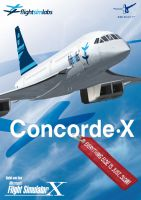 The box artwork for Flight Sim Labs' Concorde X package.