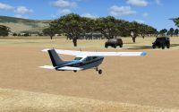 Plane on the ground at Zambezi National Park.
