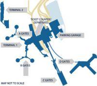 McCarran International Airport terminal map.