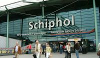 Schiphol International Airport main entrance.