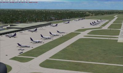 Screenshot of Indianapolis International Airport, Indiana.