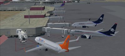 View of McCarran International Airport scenery.