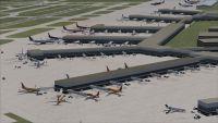 Aerial view of Philadelphia International Airport.