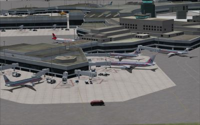 View of San Francisco Inerntaional Airport.