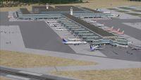 View of El Prat International Airport.