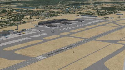 Aerial view of Malpensa International Airport.