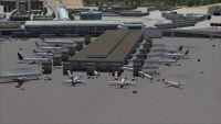View of Fiumicino International Airport.