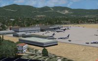 View of San Giusto Airport, Pisa, Italy.