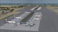 Aerial view Dubai International Airport.