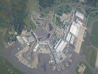 Aerial photograph of Ezeiza International Airport.