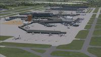 View of Heathrow International Airport.