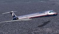 Screenshot of Aeromexico McDonnell Douglas MD-83 in flight.